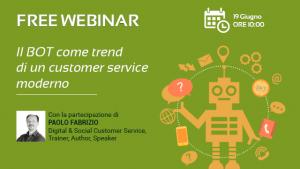 Webinar - Il BOT come trend di un customer service moderno