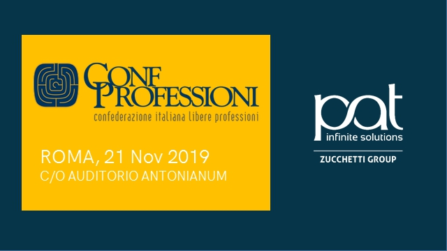 Patrizio Bof presents BeProf at the annual ConfProfessioni Congress in Rome