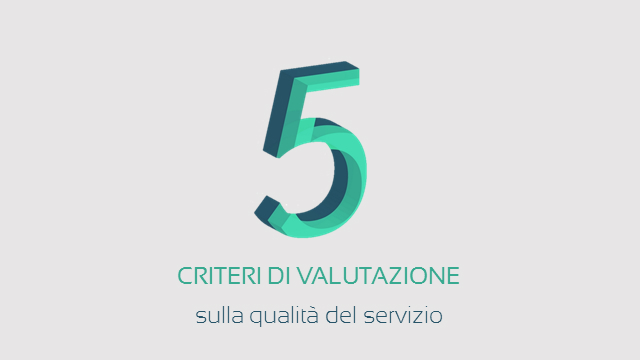 I 5 criteri di valutazione della qualità del servizio